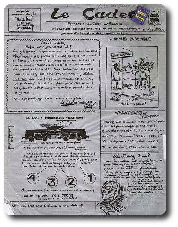 La Une de la revue des Cadets du Rail et première expérience journalistique pour Michel Chevalet dans le domaine des chemins de fer. Depuis, il a parcouru un long chemin... (1959)