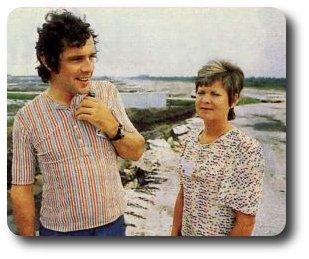 Michel Chevalet, à ses débuts en télé, en compagnie de son épouse, Josiane qui a été la productrice de sa première émission TV, La petite science