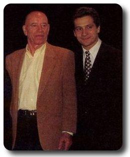 A droite, l'humoriste Laurent Gerra qui a popularisé l'expression de Michel, Comment ça marche... A gauche, un ami de longue date, André Pousse, dit dédé